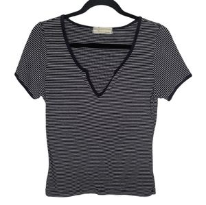 Urban Outfitters Navy & White Stripped Crop Tee